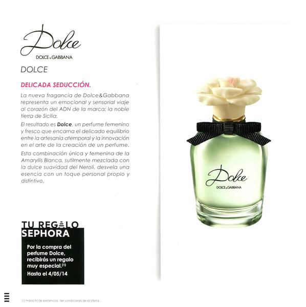 f9b81d71a34a07 DOLCE   GABBANA Dolce 2014 Spain (promo Sephora) format 19 x 19 cm