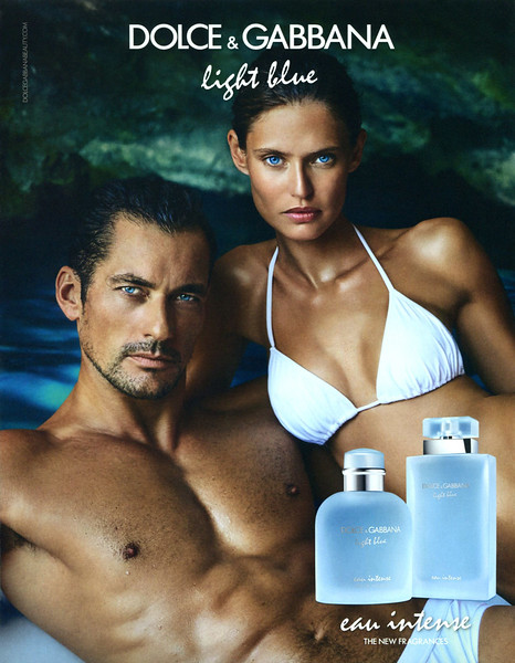 "DOLCE & GABBANA Light Blue + Light Blue pour Homme Eau Intense 2017 Andorra (format 19 x 24 cm) 'The new fragrances'<br /> <br /> MODELS: David Gandy & Bianca Balti, PHOTO: Mario Testino<br /> <br /> TV COMMERCIAL: <a href=""http://www.dolcegabbana.com/beauty/perfumes/light-blue-eau-intense/"">http://www.dolcegabbana.com/beauty/perfumes/light-blue-eau-intense/</a>"