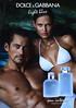 DOLCE & GABBANA Light Blue + Light Blue pour Homme Eau Intense 2017 Spain (format VPC 17 x 24 cm) 'The new fragrances'