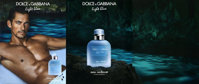 DOLCE & GABBANA Light Blue pour Homme Eau Intense 2017 Italy 3 pages 'La nuova  fragranza'
