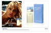 DOLCE & GABBANA Light Blue Eau de Toilette 2013 Germany half page 'Eau de Toilette Spray. Ein unwiderstelicher Duft...'