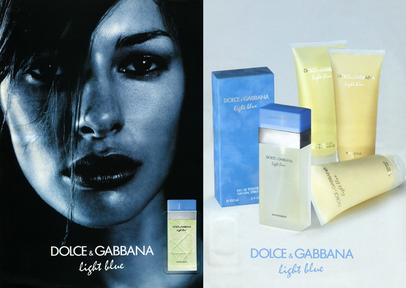 DOLCE & Gabbana Light Blue 2001-2003 France (recto-verso with scent sticker)