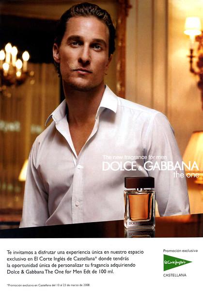 DOLCE & GABBANA The One Men 2008 Spain (El Corte Inglés stores)