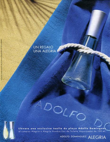 ADOLFO DOMÍNGUEZ Alegría 2002 Spain 'Un regalo. Una alegría'