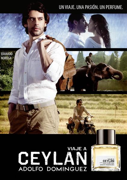 """ADOLFO DOMÍNGUEZ Viaje a Ceylán 2012 Spain 'Un viaje. Una pasión. Un perfume.'<br /> <br /> MODELS: Eduardo Noriega (actor, Spain)  & Aline Nakashima (Brasil), PHOTO: Santiago Esteban<br /> <br /> TV COMMERCIAL: <a href=""""http://www.wefeelthebrand.com/?portfolio=nulla-mollis-felis-elit"""">http://www.wefeelthebrand.com/?portfolio=nulla-mollis-felis-elit</a>"""
