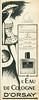 D'ORSAY L'Eau de Cologne 1957 France half page 'Svelte grâce à l'action bienfaisante de l'Eau de Cologne d'Orsay'<br /> ILLUSTRATOR: Chino Bert