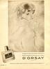 D'ORSAY L'Eau de Cologne 1951 Argentina 'El agua de colonia cuyo perfume proporciona el encanto de la elegancia más refinada'<br /> ILLUSTRATOR: Mariette Lydis