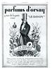 D'ORSAY Le Dandy1926 France 'Le parfum mondain le plus subtil'