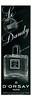 D'ORSAY Le Dandy Parfum - Eau de Cologne 1955 Germany half page 'Parfu - Eau de Cologne - Schöpher der berühmten Eau de Cologne mit dem blauen Etikett'
