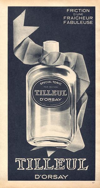 D'ORSAY Tilleul Toiletries1964 France 'Friction d'ube fraîcheur fabuleuse'