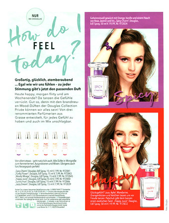 DOUGLAS fragrance collection (Spicy Charm & Happy Juice) 2017 Germany (Douglas stores) 'How do you feel today¿'