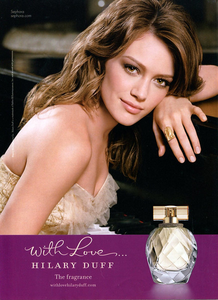 HILLARY DUFF With Love 2007 US (Sephora stores) 'The fragrance'