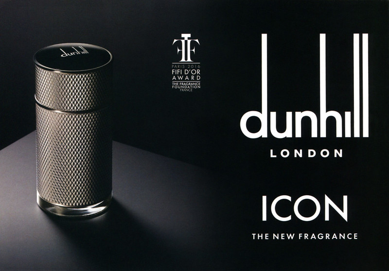 DUNHILL Icon 2016 UK half page 'Paris 2016 FIFI d'Or Award - The new fragrance'