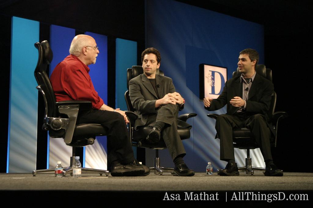 Walt interviews Google's Sergei Brin and Larry Page.