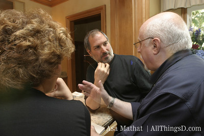 Steve Jobs and Walt Mossberg at the inaugural D conference, 2003.