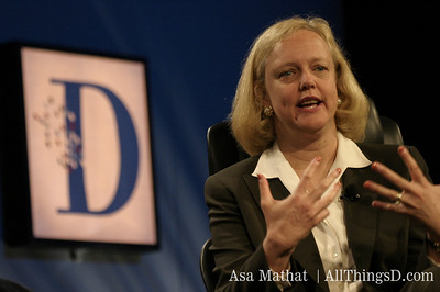 eBay CEO Meg Whitman onstage at D1.