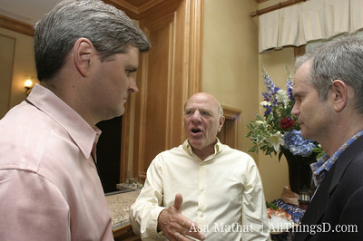 Steve Case talks with Barry Diller and Paul Steiger at the inaugural D conference in 2003.