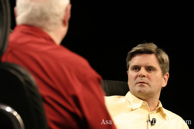 Steve Case is interviewed onstage at the inaugural D Conference in 2003.