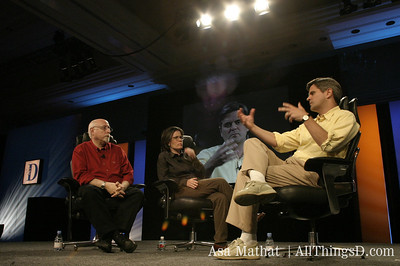 Steve Case makes a point during his interview with Walt Mossberg and Kara Swisher at D1.