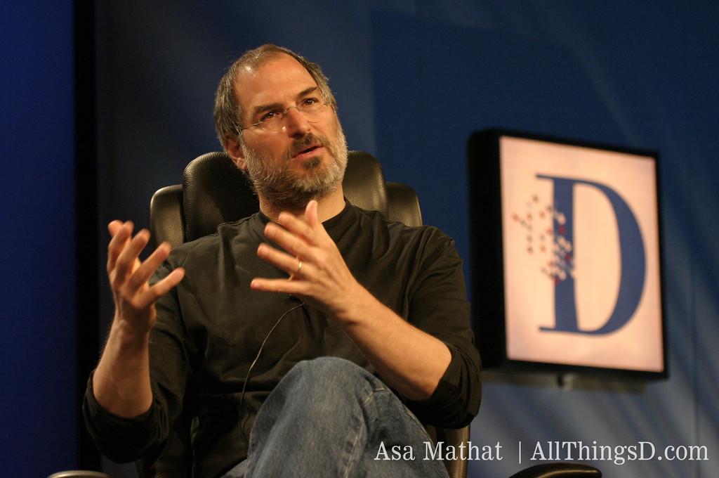 Steve Jobs talks at D1.