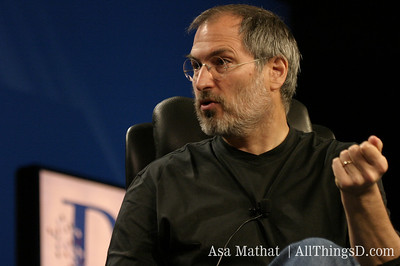Steve Jobs at the inaugural D conference in 2003.