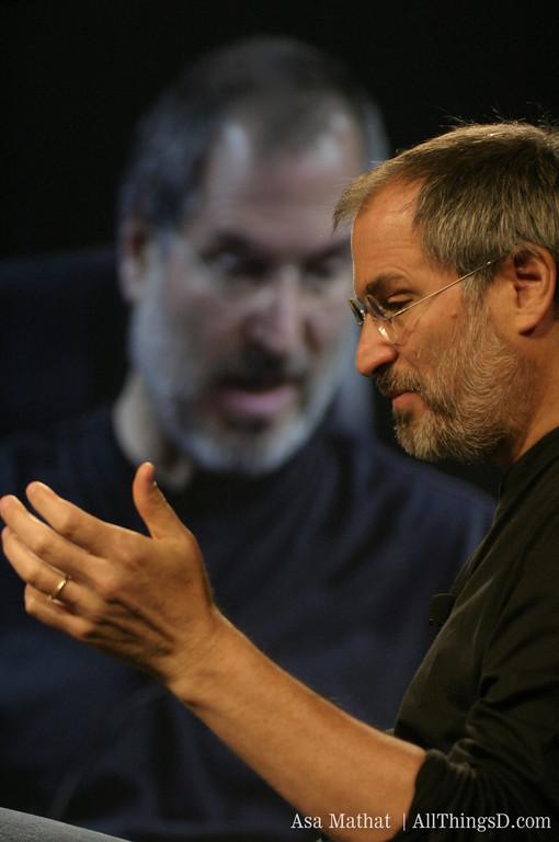 Steve Jobs onstage at D1 in 2003.