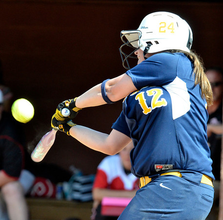 Cory Byknish/Herald                          <br /> Wilmingtons Courtney Cohen swings and makes contact.