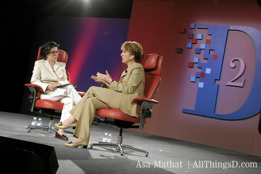 Kara Swisher interviews then-CEO of HP Carly Fiorina at the D2 conference in 2004.