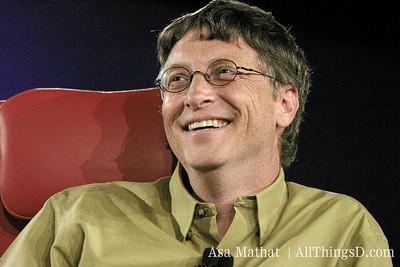 Bill Gates onstage at D.