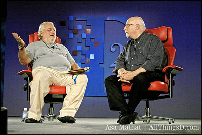 TED conference founder Richard Saul Wurman with Walt Mossberg at D2.