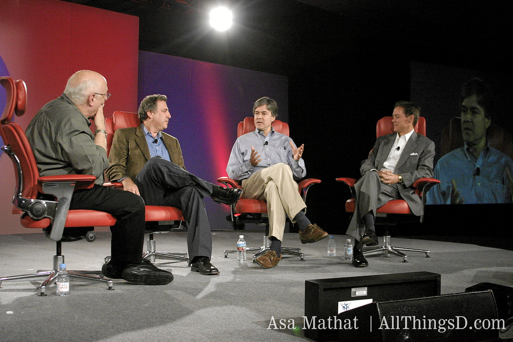 Politics panelists Joe Trippi, John Harwood and Ralph Reed.
