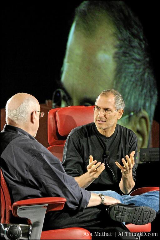 Steve Jobs makes his case at D2.