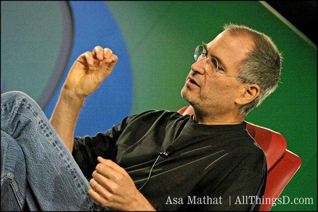 Steve Jobs onstage at D2 in 2004.