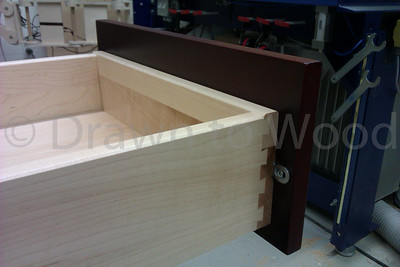 Maple Dovetailed Drawer With Cherry Front
