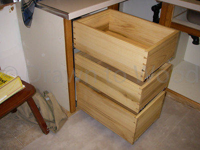 Poplar Dovetailed Drawers