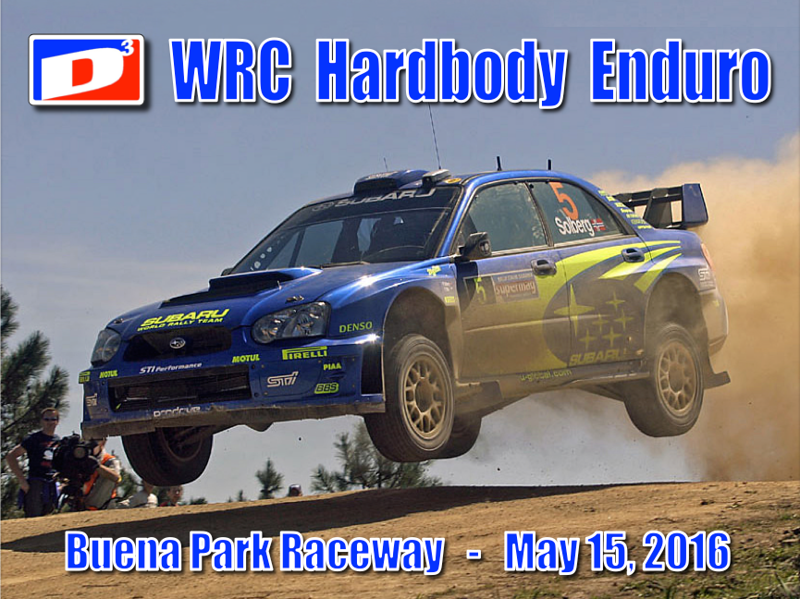 "The 3rd Annual D3 Hardbody Enduro, Sunday May 15, 2016. This year's enduro is for WRC rally cars. Special thanks to Mike Steube (2 model kits and a Scratchbuilding DVD) and Jay Henry (4 model kits) for donating raffle prizes. Thanks to Debby and Jim Watterson with help from Eddie for supporting D3 Hardbody Racing at Buena Park Raceway. And finally, thanks to our race directors, Victor Dubrowsky, Hector Gonzalez, Keith Tanaka, Paul Sterrett.  Photos for this race report were taken using an iPhone 6 plus.  Also, video clips (including Slo Mo) taken with this cellphone. The video clips will be posted later online at our hardbody blog website: <a href=""http://d3hardbodyracing.proboards.com/"">http://d3hardbodyracing.proboards.com/</a>"