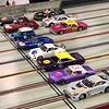 A nice mixed field for this race. Five Short Track NASCARs, a 3 C's Corvette convertible, 3 C's Corvette hardtop, Mercedes GT3, Porsche 934 and a Mini Cooper.