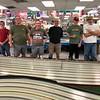 GTP racers, L-R, Bob Ahulii, James Rogers, Craig Williamson, Doug Jacks, Eddie Shorer, Tim Wood, Phil Nyland, Jim Lane