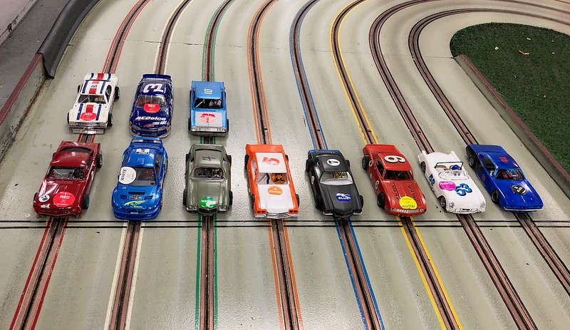 """July's D3 Hardbody races at Buena Park Raceway begins with the """"Mixed"""" race. 22 entries for this race so we divided the field into two races of 11 cars each."""