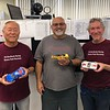 """""""Mixed"""" race, """"Racer Handicap"""" podium, L-R, Keith Tanaka 2nd (GTR), Richard Rodriguez 1st (Foreign Production Sport), Eddie Shorer 3rd (Can Am)."""