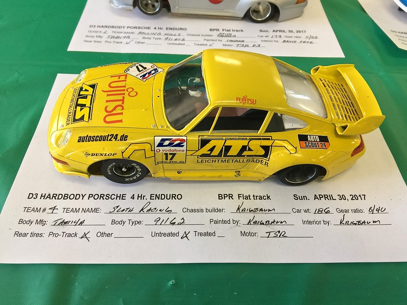 Sloth Racing's entry. This car built by Bob Krigbaum.