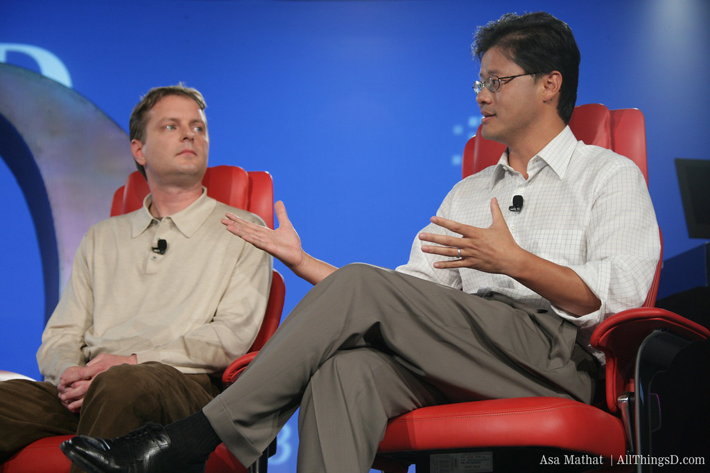 Yahoo co-founders David Filo and Jerry Yang.