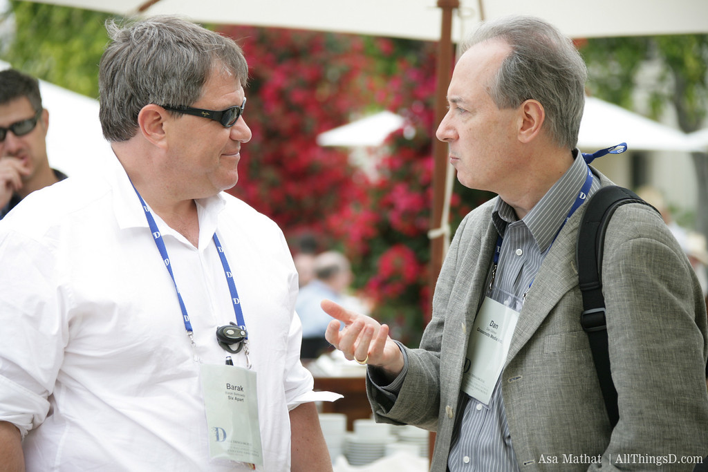 Dan Gillmor makes a point to Barak Berkowitz.