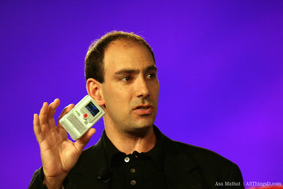 CEO Jonathan Kaplan introduces the Flip video camera at D3.