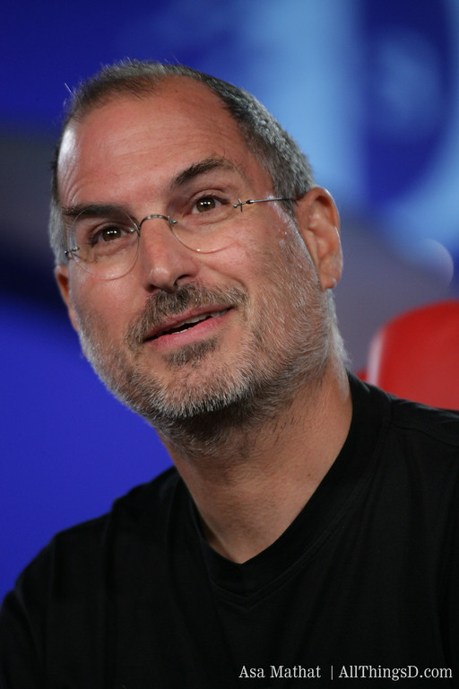 Steve Jobs, CEO of Apple at the D3 conference in 2005 .