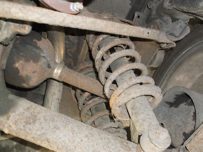 rear springs and other suspension components very rusty