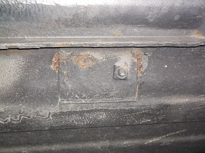 Seatbelt mounts beginning to rust through