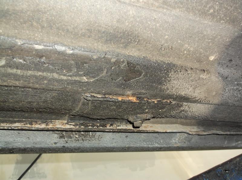 Seatbelt mounts beginning to rust through