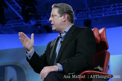 Al Gore onstage at D4.