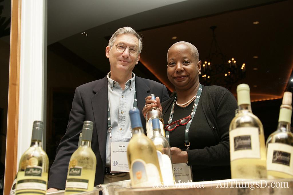 WSJ's wine-tasting columnists John Brecher and Dottie Gaiter host the night's festivities.